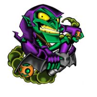GREEN GOBLIN BIG HEAD by impmtm2