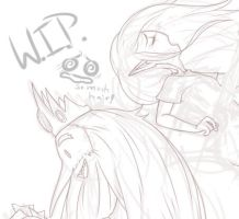 i remember you WIP by SillySinz