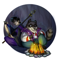 Inu-yasha: Monk and Tanuki by Bilious