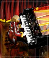 Eggman and the piano by Diamond-ME