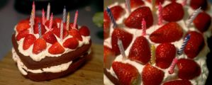 Strawberry Heart Victoria Sponge by foquinha156