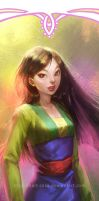 Disney Princesses Bookmarks: Mulan by hart-coco