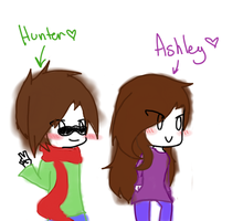 Hunter And Ashley Drawing by Kitsunekitten1