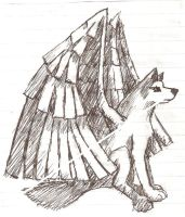 Winged Wolf by ShadowsEternal