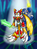 Zero Tails and Mega Sonic by Zack-Anderson-X