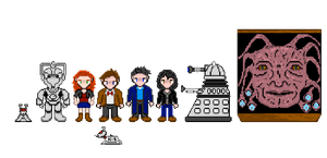 Doctor Who: Sprite sheet by Silverhammer37