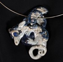 Dragon Pendant with agate by LeeAnneKortus