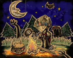 Don't Starve-Wilson's Sleepless Night by RinnKruskov