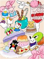 Sanrio Teatime Coloured by 0TashArt0