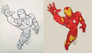 ComCom 2012 IronMan Sketch by gelipe