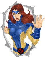 Jean Grey COLORED 2011 by LucasAckerman
