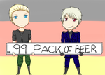 99 Pack Of Beer And Some Germans by AlexisShadowGiver