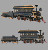 Mighty Eagle R.R. Locomotive #5 ''Belle'' by theIronHorse319
