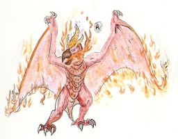 Fire Rodan by kaijulord21