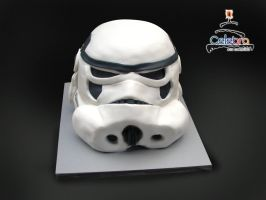 Stormtrooper Star Wars cake by The-Nonexistent