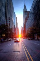 Manhattanhenge by sp1te