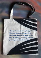 Doctor Who Tote bag = good things and bad things by arteclair