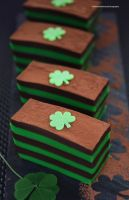 St Patrick's Day Chocolate and Mint Sheet Cake by theresahelmer