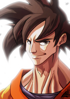 Goku Colour Test by G-Chris