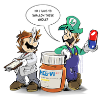 oldies goodies doc mario by thweatted