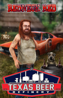 Redneck Red Beer Label by thesadpencil