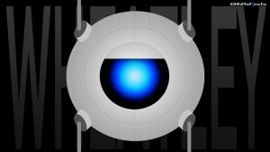 Wheatley Wallpaper by AshpodThePortalFur