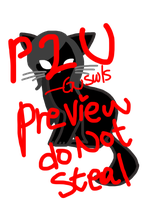 P2U Cat lineart by Guswls