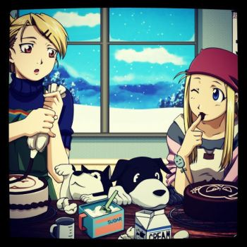 Winry and Hawk by SupremoNoFansub