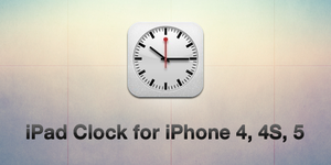 iOS6 iPad Clock for iPhone 4, 4S, 5 by elpiimsguajee