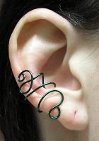 Green Swirl Ear Cuff by lavadragon