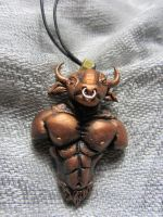 Minotaur Necklace by Ravensfool
