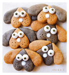 Chocolate Gingerbread  Puppy Cookies by ScarletWarmth