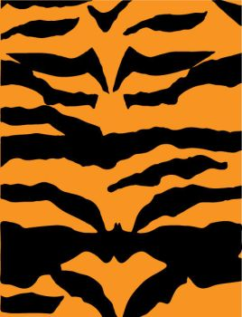 Tiger Print Vector by inferlogic