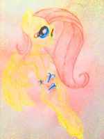 Fluttershy Colored Pencil - redone - by Sasifrass
