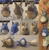 Totoro Sculpey B-Day Present by Sorenli