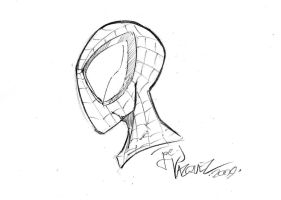 spidey head sketch video by JoeyVazquez