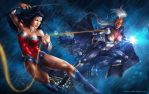 Wonder woman vs Storm by Aioras