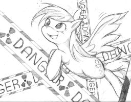 Derpy Dange Hooves by zaiyaki