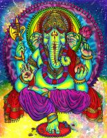 Lord Ganesha by ChewbaccaBigSis