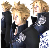Cloud Strife Advent Children HD Model WIP by Kukla-Factory