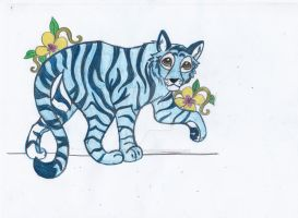 Blue Tiger by The-DaughterOfLight