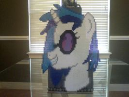 My Little Pony Large Perler DJ Pon-3 Portrait by Perler-Pony