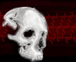Skull and wire by CipherWolf