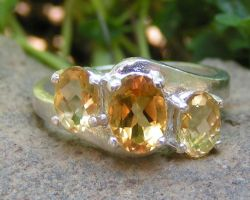 Triple Citrine Ring by Izile