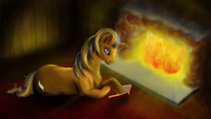 Fireplace Inkwell by cathykitcat