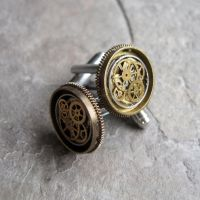 Clockwork Cufflinks No Twenty-Nine by AMechanicalMind