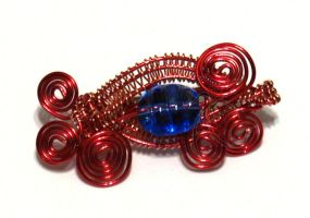 Wire Wrapped Pin - Flame Edition 2 by cakhost