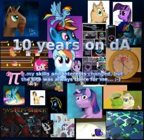 10 Years dA Collage by caffeinejunkie