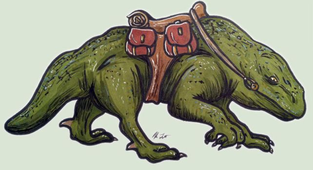 Dewy the Dewback by TerribleToadQueen