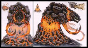 Tephralles the Clastic Monster by KillustrationStudios
